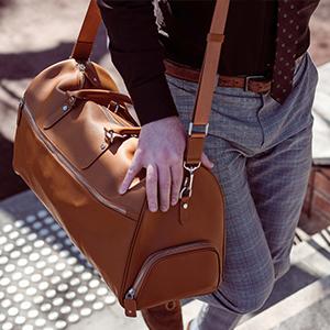 Arcis Luxury Gift Brand leather bag travel