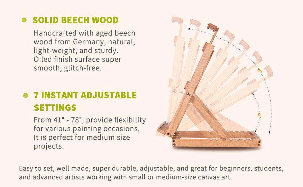 tabletop/desktop easel abletop Wooden H-Frame Studio Easel studio desktop wooden easel portable