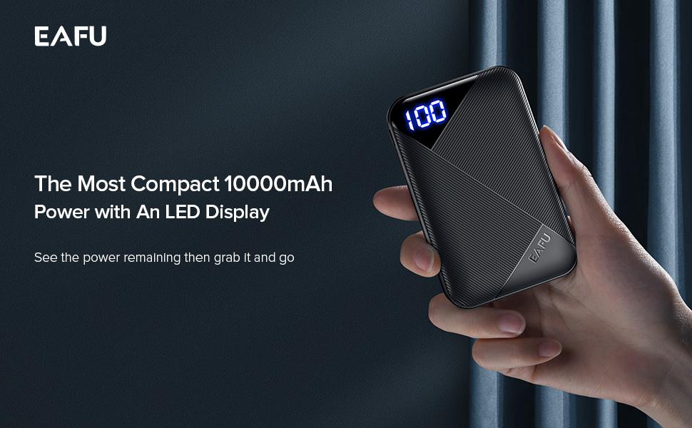 Eafu 10000mAh LED display power bank