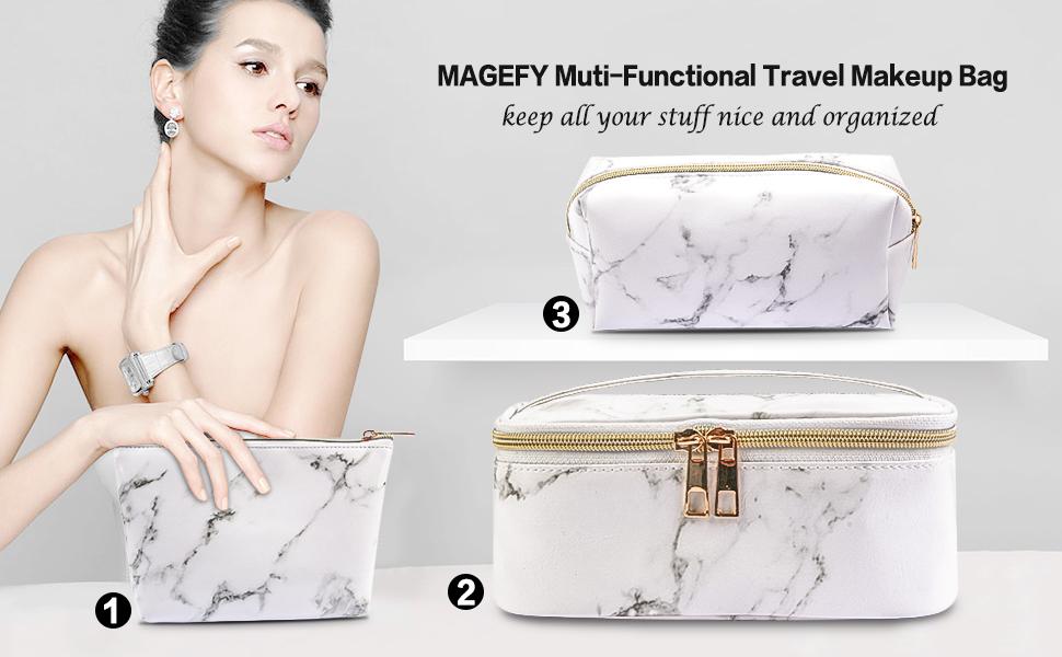 makeup bag, cosmetic bag, travel makeup bag, toiletry bag