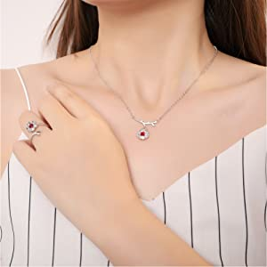 birthstone fashion trendy dainty simple delicate hypoallergenic necklace stud earrings ring sets