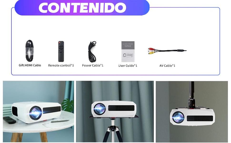 proyector para cine en casa barato, proyector fullhd barato, proyector 4k barato, proyector portatil