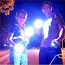 Knuckle Lights reflective running gear and reflective gear for walking and dog walking