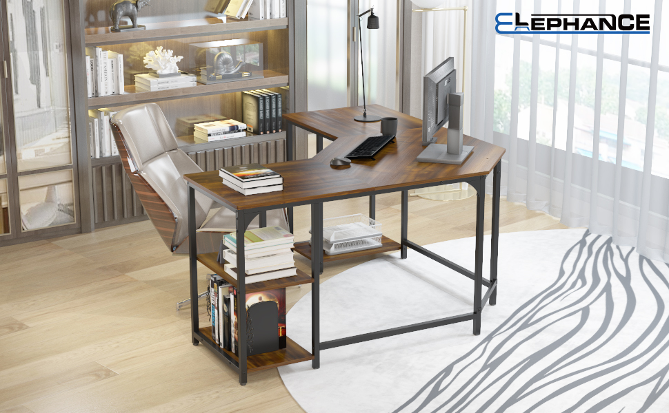large l shape computer desk