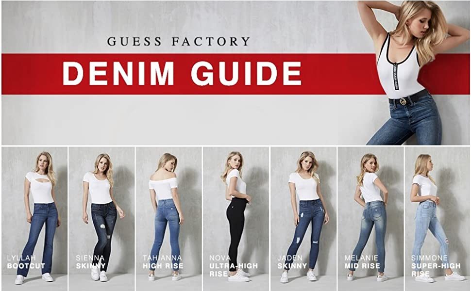GUESS Factory Womens Melanie Mid-Rise Skinny Jeans