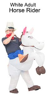 white adult horse rider costume