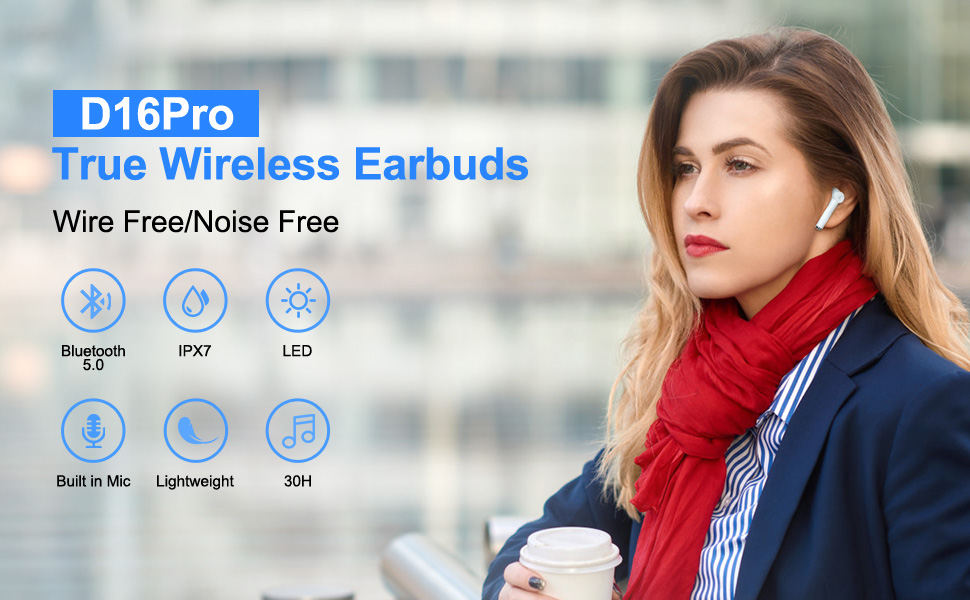 bluetooth earbuds with mic