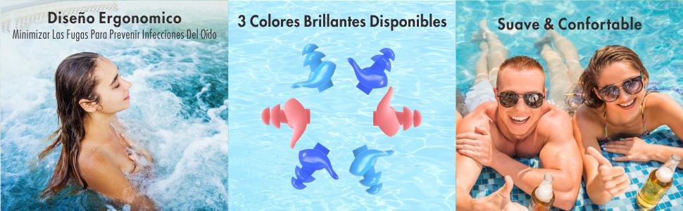 tapones oidos natación silicona,tapones oidos natación mujer
