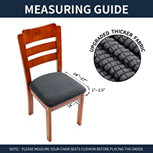 the size of chair cushion cover