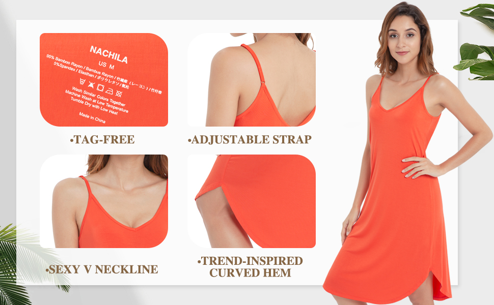 cozy style sleeping dress with highly breathable, keeps you cool and comfy all year round.