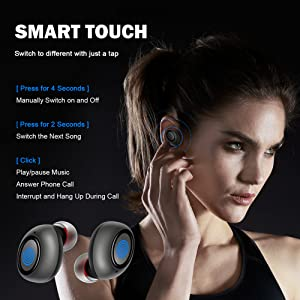 bluetooth earbuds waterproof bluetooth headphones with mic running wireless for kid sport for iphone