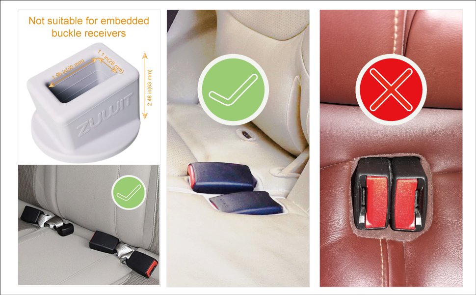 and Passengers with Special Needs Grey Plug The Seat Belt in with Only One Hand ZUWIT Seat Belt Buckle Holder Easy Access to The Buckles of Rear Seats Friendly to Kids