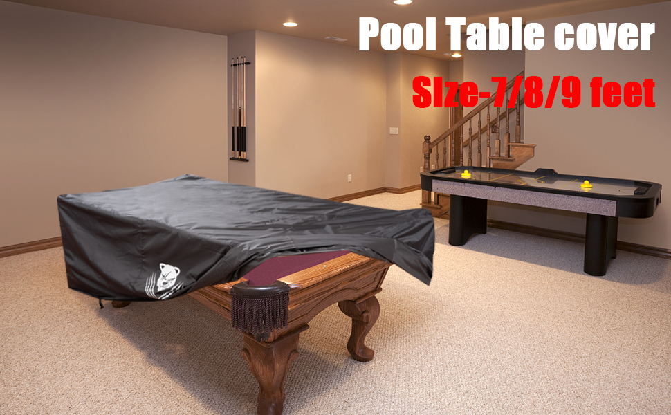 8ft Waterproof Dustproof Billiard Table Cover Foot Pool Snooker Polyester Dust Q