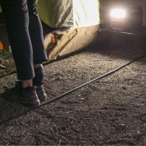 停電でも足元を照らします