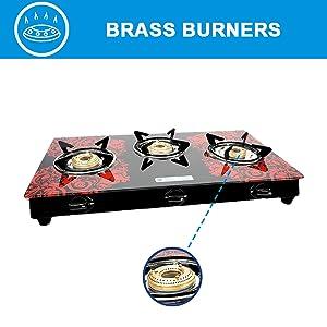 gas stove with brass burner, 2 burner gas, 2 burner gas stove, glass top gas stove, gas burner
