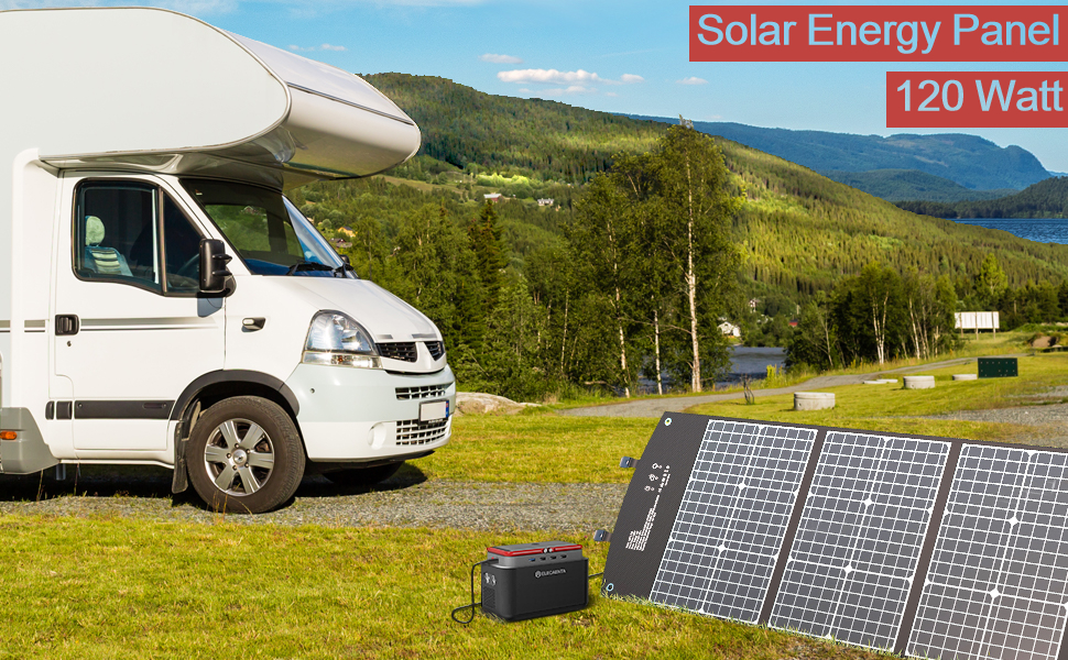 120W Solar Panel Charger Kit for Portable Generator Power Station Smartphones Laptop Car Boat RV