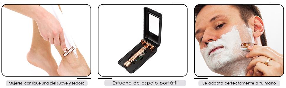 Maquinilla de afeitar de doble filo - Manual Adecuado para todos ...