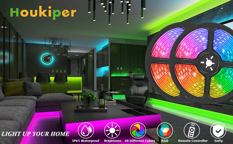 Striscia luminosa a LED 32,8ft 5050 RGB Striscia luminosa a LED che cambia colore