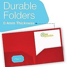 Vinyl 2 pocket folder middle high college school folders supplies students report poly plastic