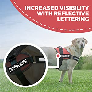 Reflective Emotional Support Dog Harness ESA Service Harness for Dogs Labrador