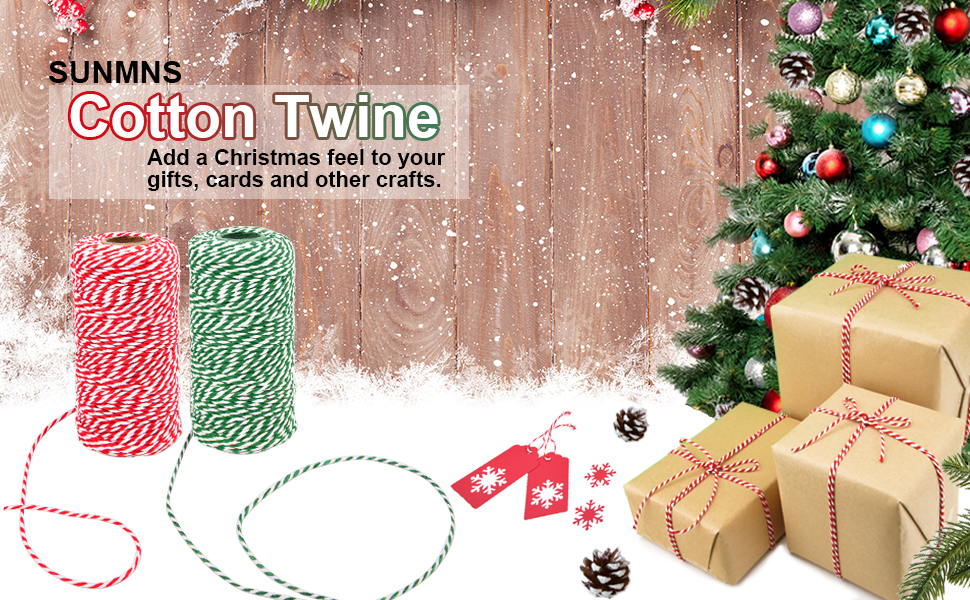 1st Choice Red Green and White Christmas Holiday Bakers Twine 328 ft