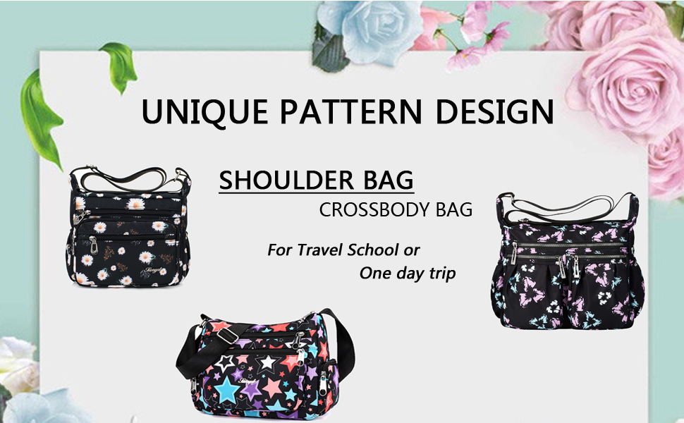 Hibiscus Flower Tropical Bouquet Messenger Bag Crossbody Bag Large Durable Shoulder School Or Business Bag Oxford Fabric For Mens Womens