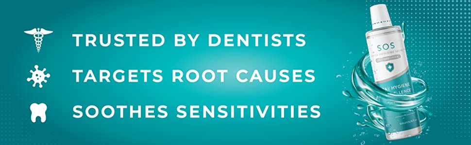 dentist oral care tooth sensitivities gingivitis bleeding gums pain mouth wound cleanser hocl germs
