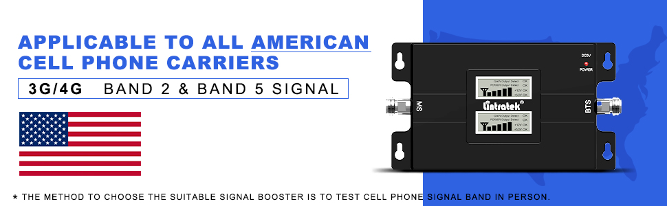 band 2 & band 5 mobile phone signal amplifier