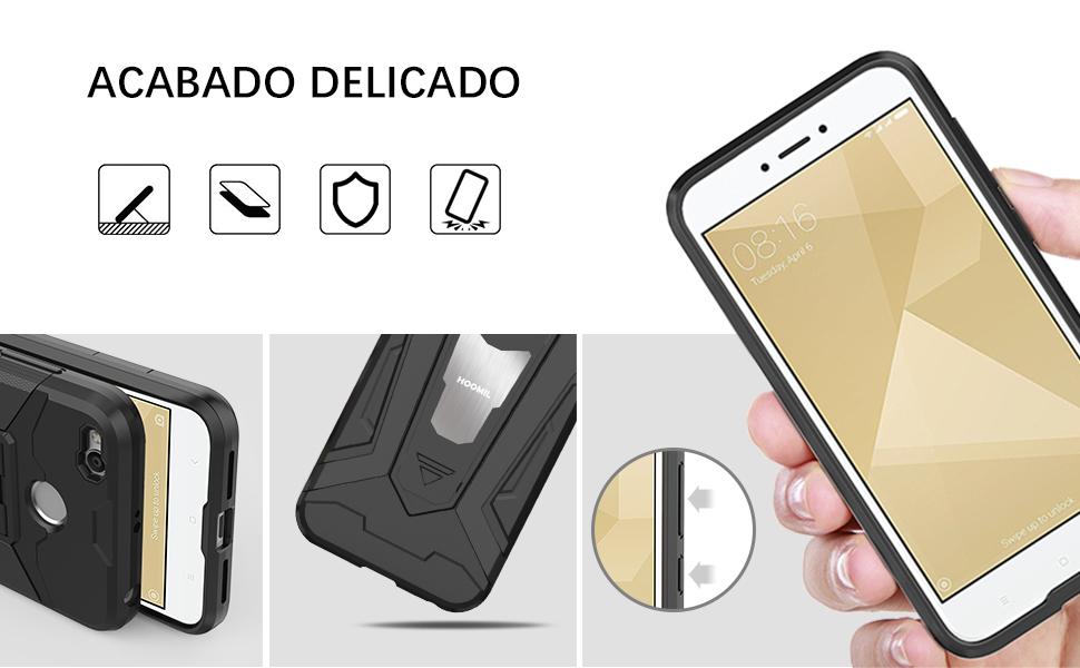 HOOMIL Negro Armor Funda para Xiaomi Redmi 4X Carcasa Shock ...