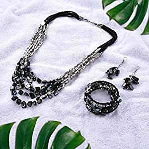 Wrap Bracelet and Multi Strand Necklac