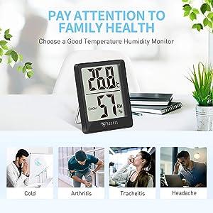 Digitales Mini Thermo Hygrometer Innen