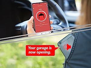 Nexx Smart Garage WiFi Door Controller NXG-200 WiFi Notifications Reminders Alert Voice Phone Nex