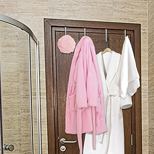 New 2 PC Copper Heart-Shaped Over Door Storage Hooks-Hanging Towels /& Bathrobes