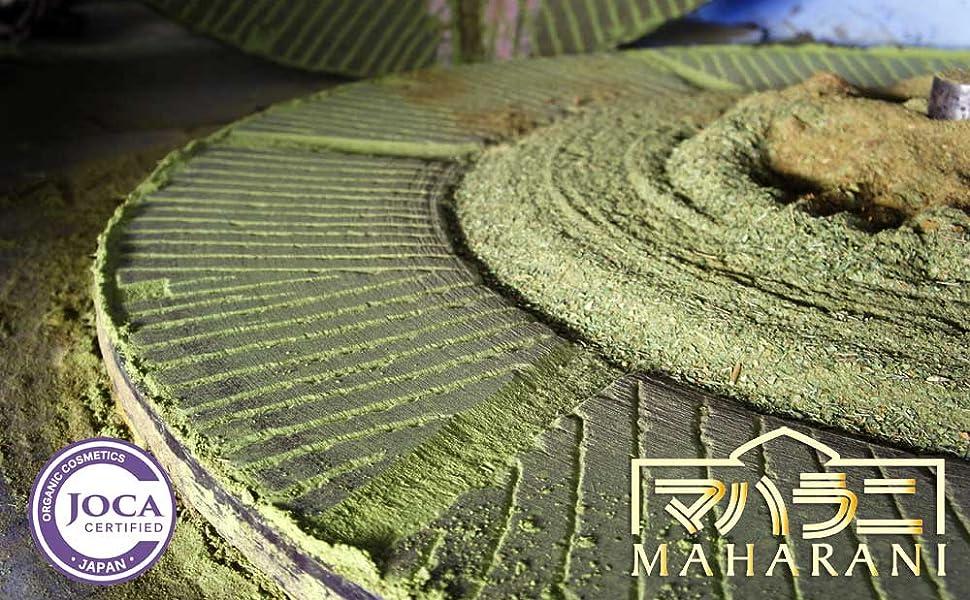 インド伝統のヘナ石臼挽き