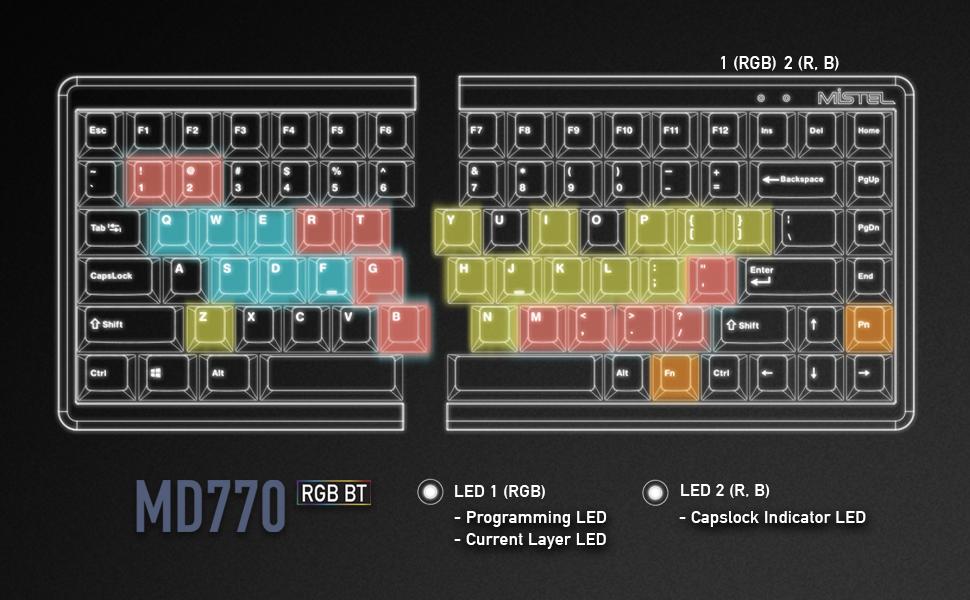 mistel md770 rgb bt keyboard