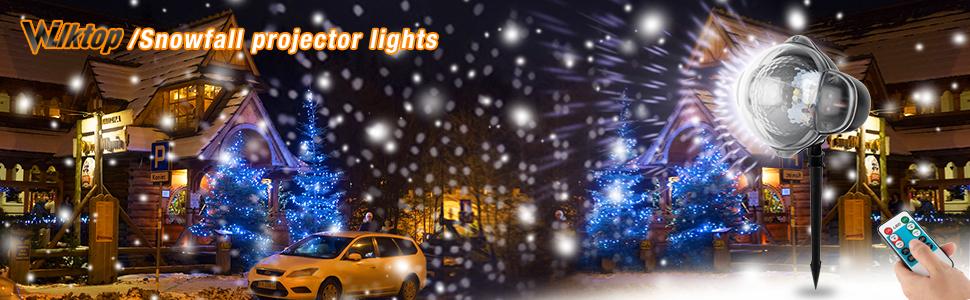 Wilktop Luces Proyector Navidad,Lámpara de Proyección Nieve LED ...