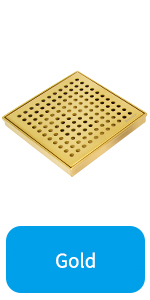 Gold Square Shower Drain