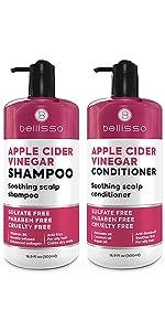 Bellisso Apple Cider Vinegar Shampoo and Conditioner