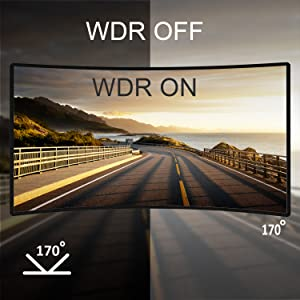 170° Wide Angle & WDR