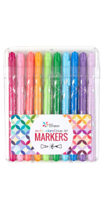 Colorful Dual-Tip  Markers - 10pcs Pack