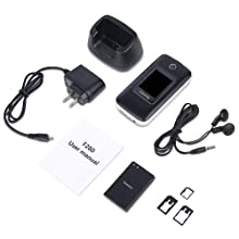 content: phone, battery, chager, dock, earphone, manual, sim card adapters