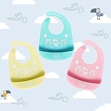 bavaglini neonato // set pappa // bavaglino neonato // cucchiaino neonato // set pappa svezzamento