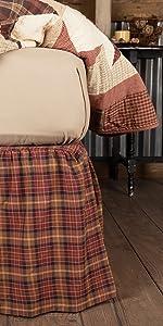 Abilene Star Bedskirt primitive country rustic Americana VHC Brands bedding pillow sham throw