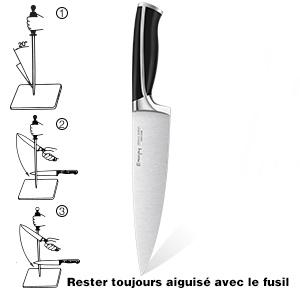 set couteaux professionnels