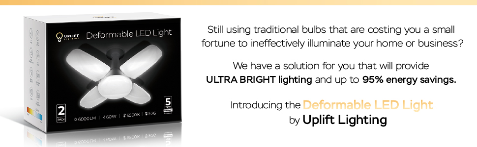 Iluminación Uplift 6000 lúmenes de luz LED deformable Introducción