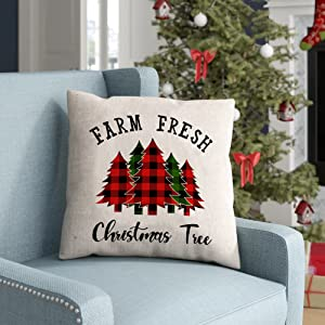 Christmas throw pillow covers 18x18