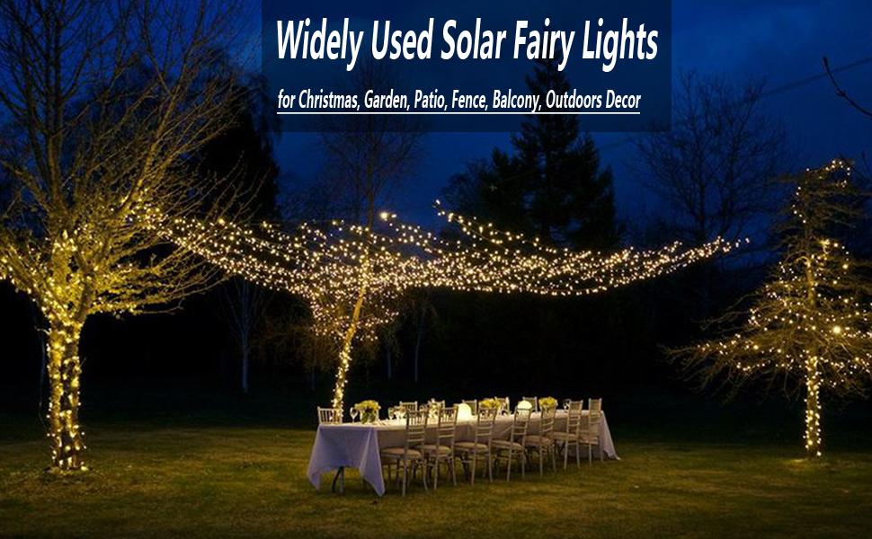 LED Solar Sun Net Mesh String Fairy Light Xmas Wedding Outdoor Garden Patio Lamp