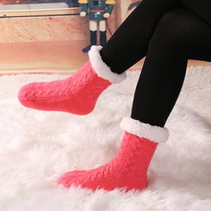 Women Warm Slipper Socks
