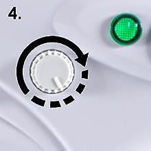adjustable knob clockwise