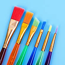 Colorful Paint Brushes for Kids